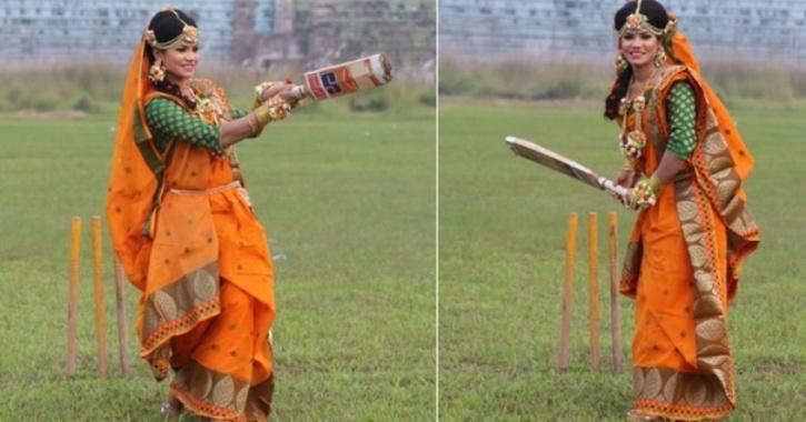 Sanjida Islam, Bangladesh women senior national team cricketer, made sure her wedding photoshoot went viral