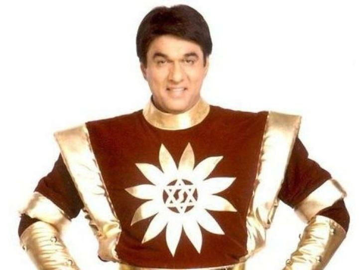 A still of Mukesh Khanna dressed up as India