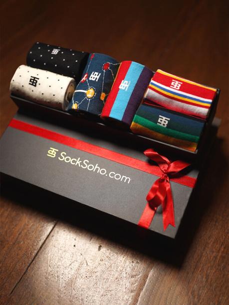 Luxury Socks Gift Box: Set of 6 Ankle Length Socks
