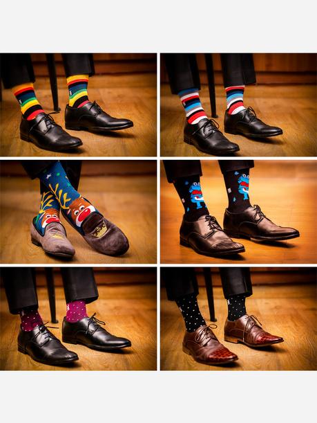 Happy Gift Box: Set of 6 Ankle Length Socks