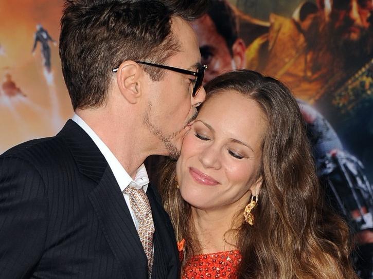 Robert Downey Jr with Susan Downey