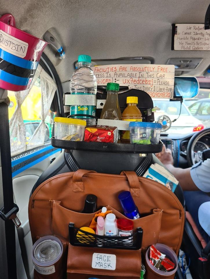 Free facilities for passengers in Uber cab