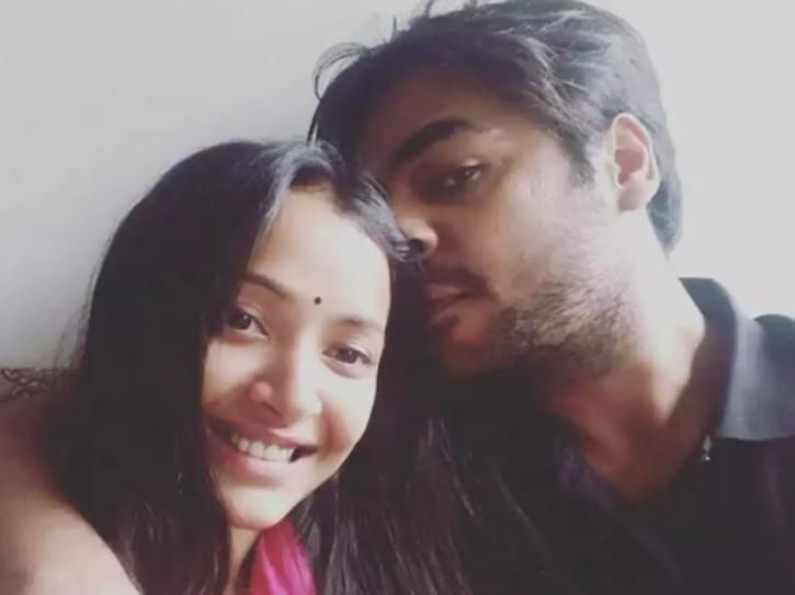 Shweta Basu Prasad with husband Rohit Mittal.