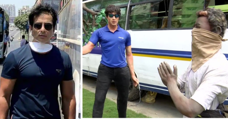 A Durga Pooja Pandal in Kolkata has honoured Bollywodo actor Sonu Sood for helping migrant workers during the pandemic.