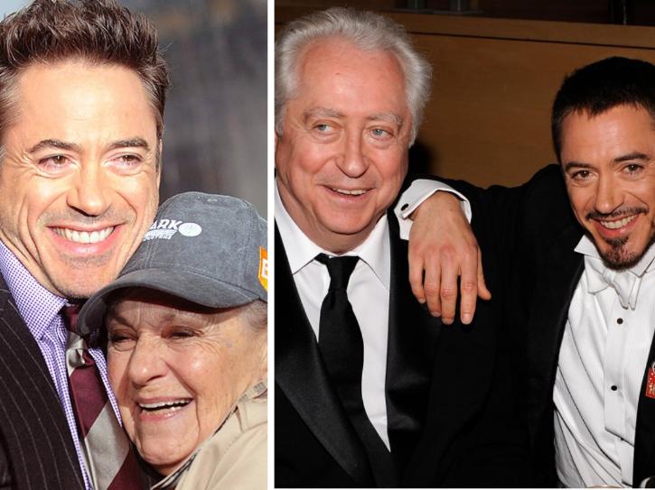 Robert Downey Jr was 17 when his parents divorced.
