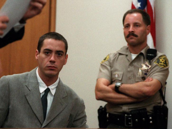 Robert Downey Jr was arrested several times for reckless, drug-fueled behavior.