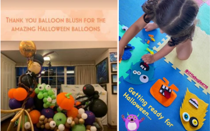Kareena shared a picture of Halloween decorations at her residence. Looks like Taimur and Inaaya are prepping up for the festival too.