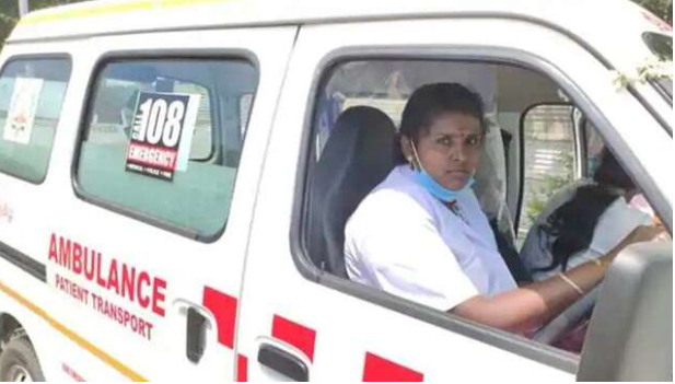 First woman ambulance driver of India