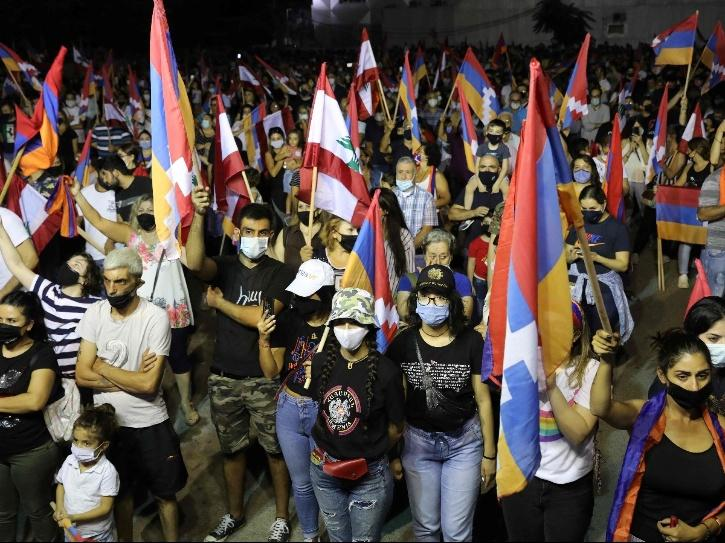 Locals take out support rally in Armenia