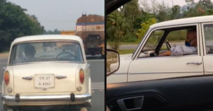 Fiat being driven with no one in the driver
