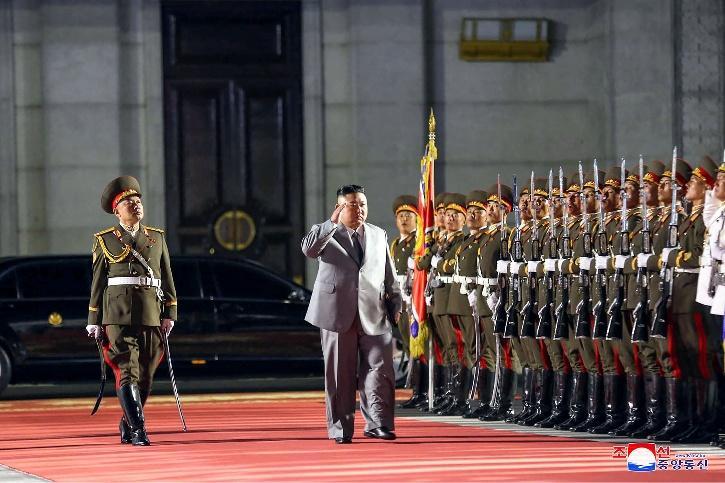 kim at military parade