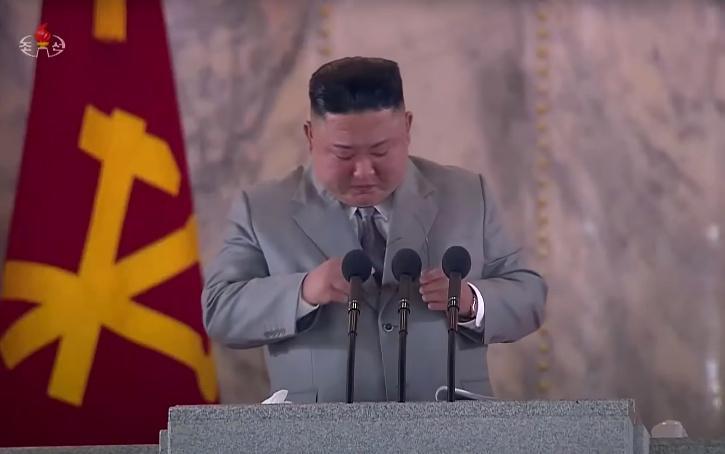 Kim Jong-Un breaks down