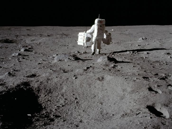 Astronaut on Moon surface as nasa sets new rules