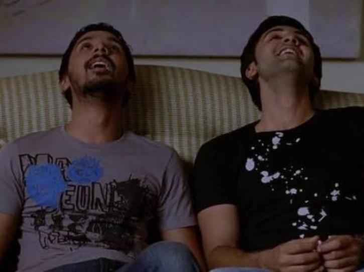 Namit Das and Ranbir Kapoor in Wake Up Sid.