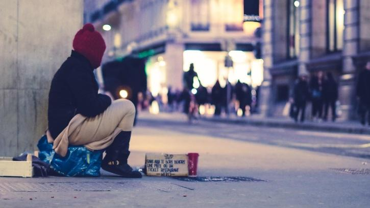 A beggar on the streets