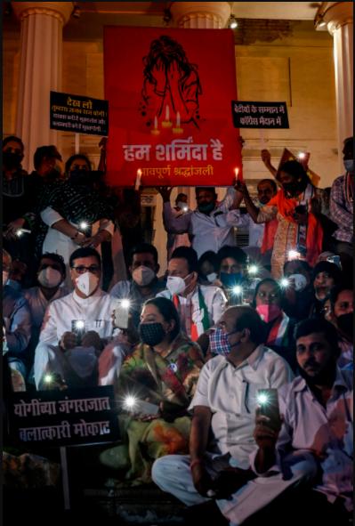 Protest over dalit rape case