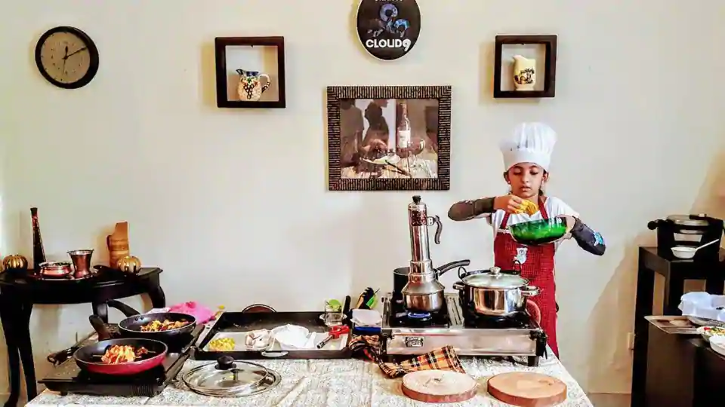 Saanvi M Prajit cooked 33 dishes under 1 hour
