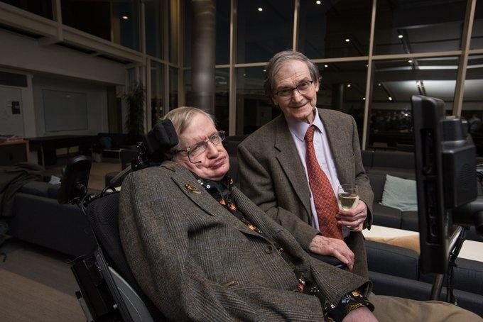 Roger Penrose with Stephen Hawking