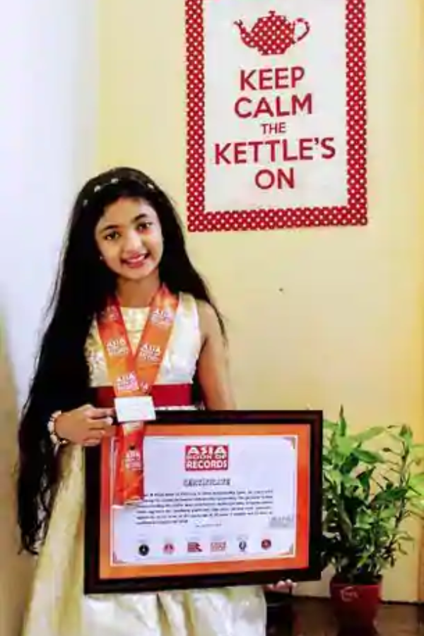 The Asia Book of Records authorities watched her event online
