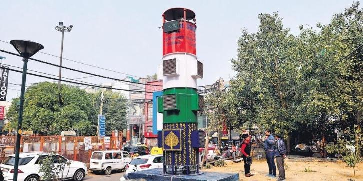 Smog tower installed in Lajpat Nagar