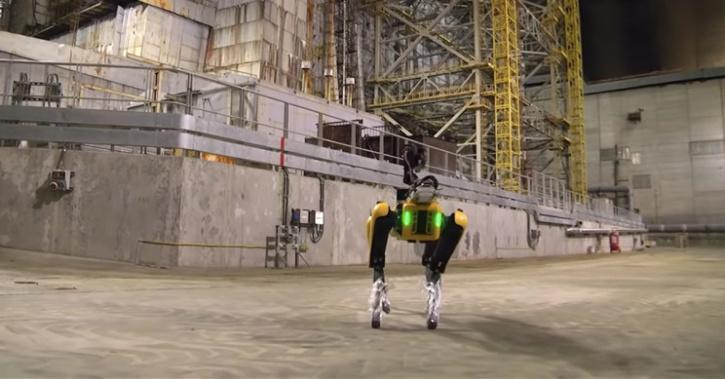Robot dog named spot detects radiation
