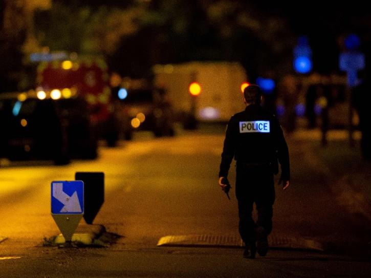 Spot where teacher killed by attacker in Paris