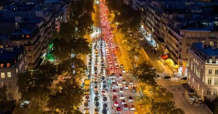 Traffic paris lockdown