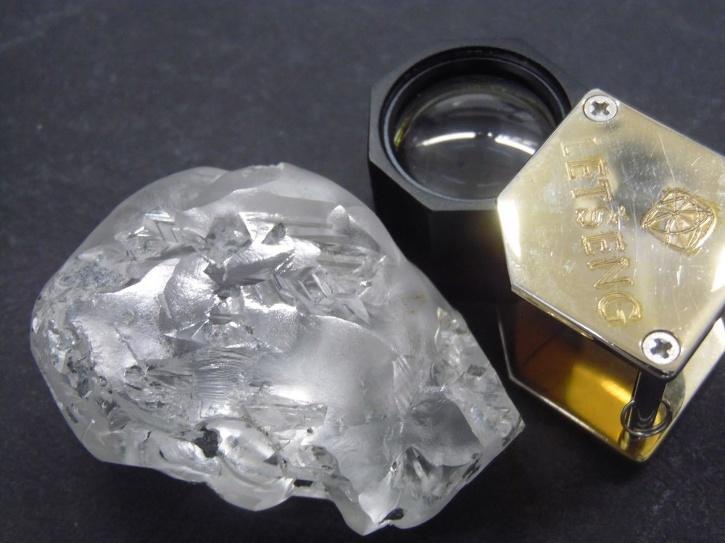 dimond found by miner
