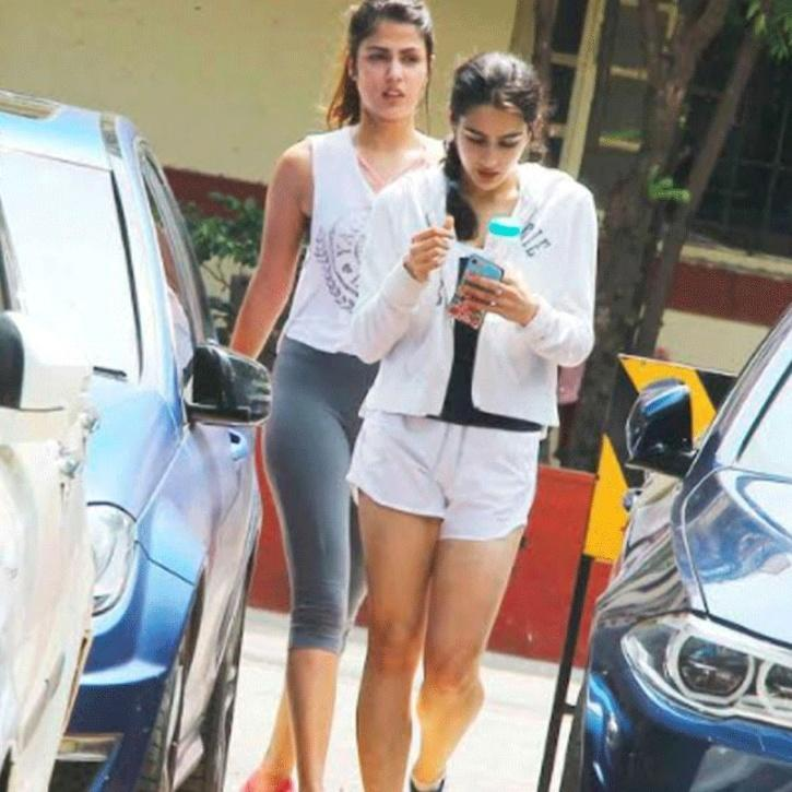 Sara Ali Khan and Rhea Chakraborty / Agencies