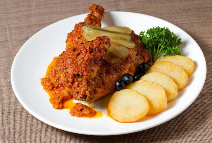Macanese food, African chicken