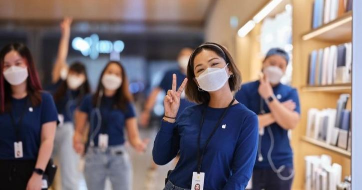 apple face mask for employees