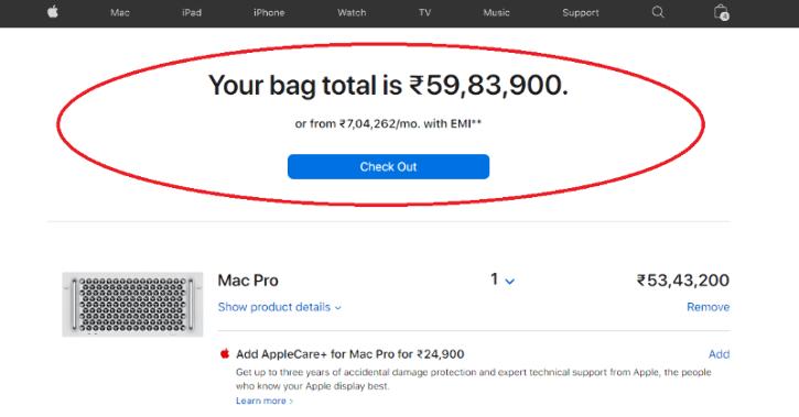 apple mac pro india online store price