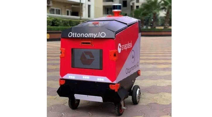 Snapdeal Robot Delivery