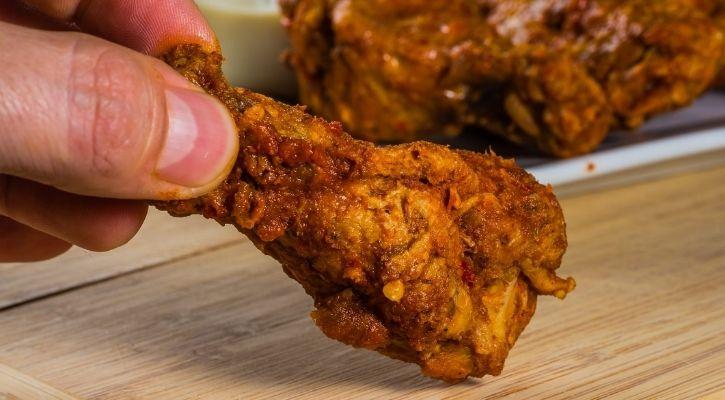 chicken leg drumstick piece