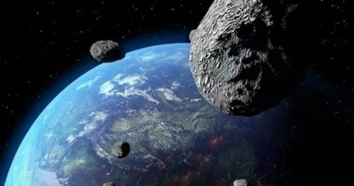 asteroids in the space