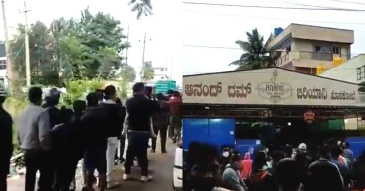 Hundreds Of Bangaloreans Queuing Up For Biryani At 6 AM