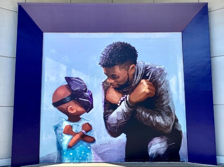 Chadwick Boseman mural
