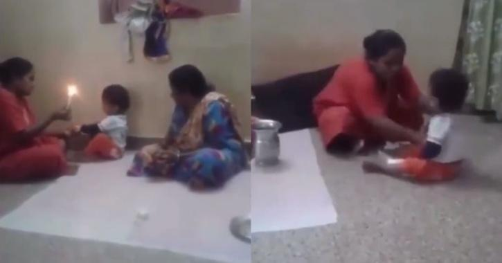 Grandmother beats 2-year-old for throwing tantrums