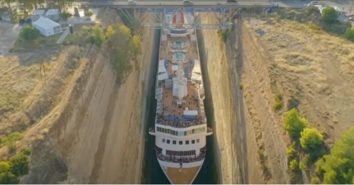 Video from Greece shared as cruise service started by PM