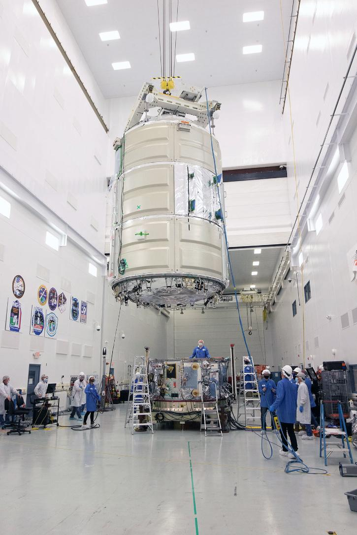 Cygnus service module with the pressurized cargo module to complete the S.S. Kalpana Chawla f