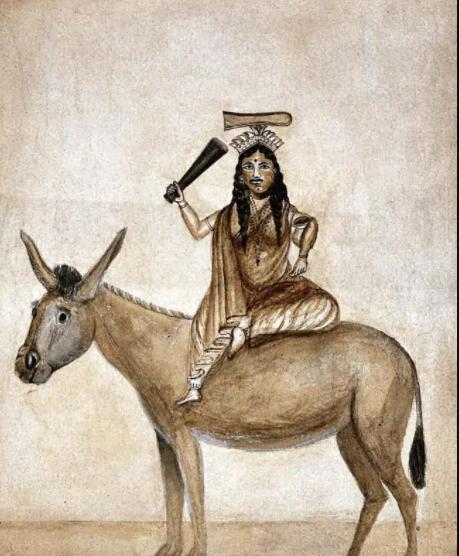 ]A watercolour of Shitala, date unknown