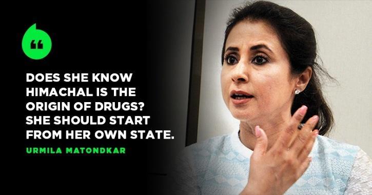 Urmila Matondkar Tells Kangana Ranaut To Start Her Fight Against Drug Abuse From Her Own State