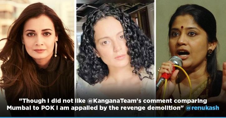 Dia Mirza, Renuka Shahane & Others Support Kangana Ranaut, Condemn BMC