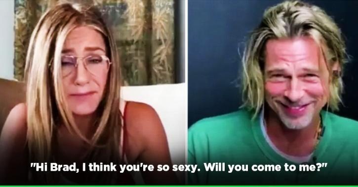 Brad Pitt And Jennifer Aniston Recreated A Steamy Rom-Com Scene & Things Got Really Awkward
