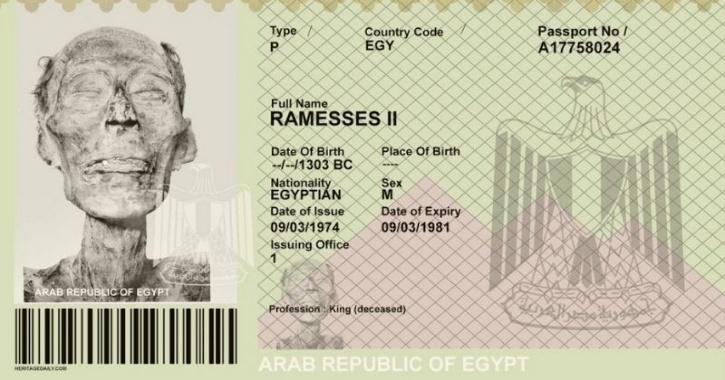 Ramses II passport