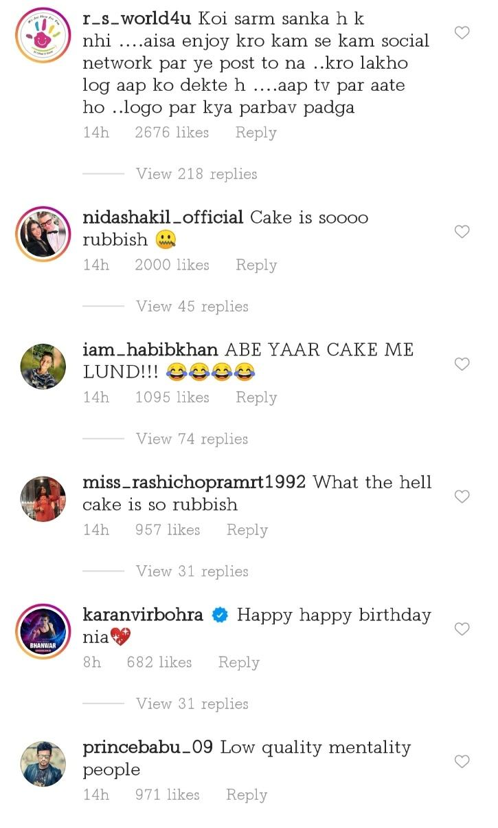 Nia Sharma gets trolled for her birthday cake.