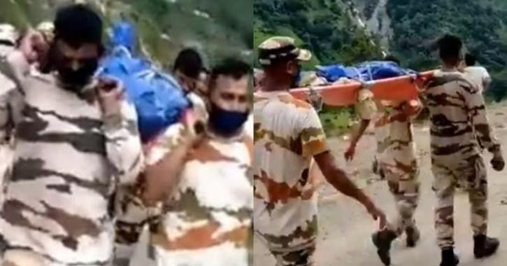 ITBP Soldiers Walk 25 kms In 8 Hours To Carry Local
