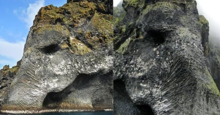 Iceland elephant rock volcanic