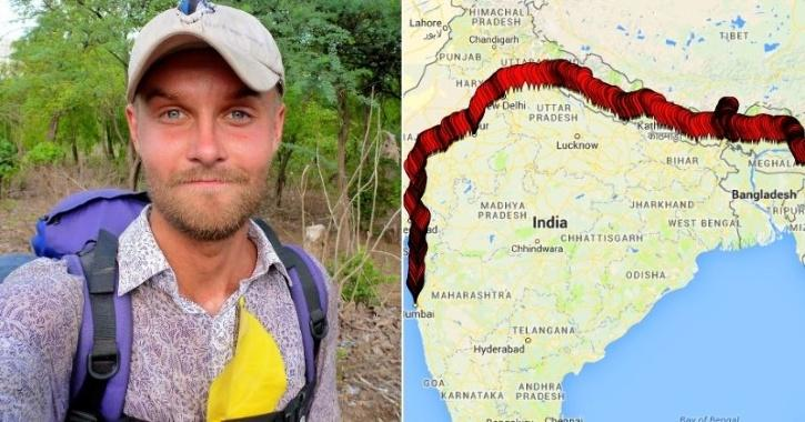 Foreigner Explores India By Walking For 7 Months Straight,