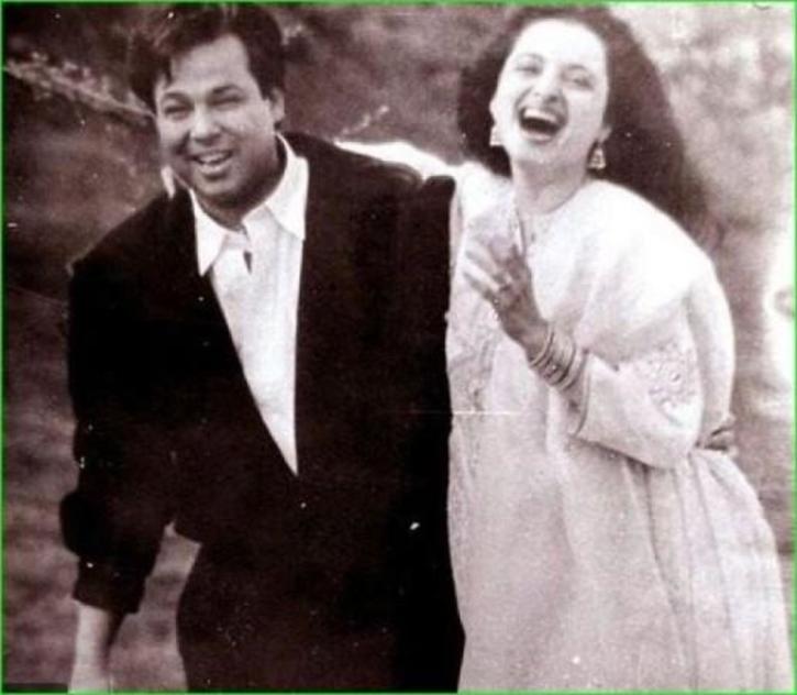Rekha with husband Mukesh Agarwal / Agencies